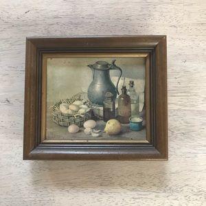 Farmhouse framed vintage picture